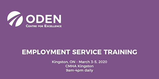 ODEN 3-Day Employment Service Training - Kingston