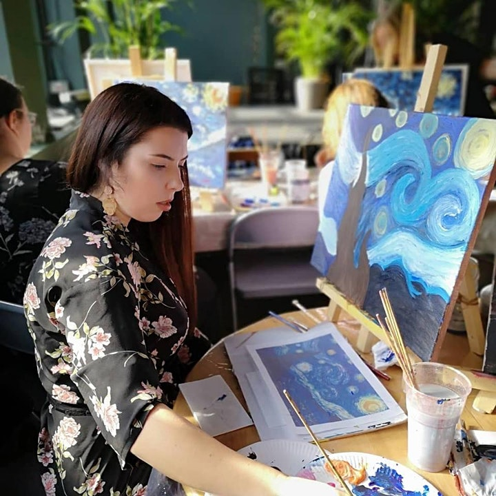 Monet's garden - Acrylic Painting Workshop image