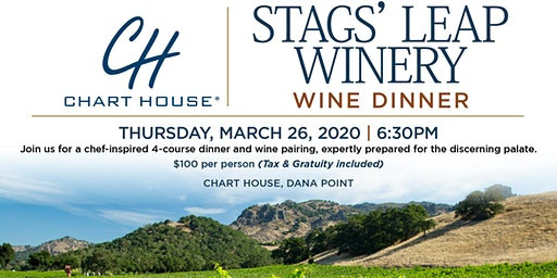 Chart House Stags' Leap Winery Wine Dinner- Dana Point, CA