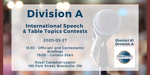 Division A International Speech & Table Topics Contests