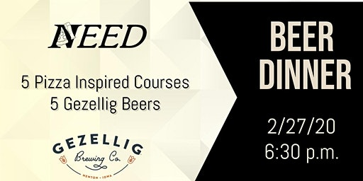 Beer Dinner-Gezellig and Need Pizza