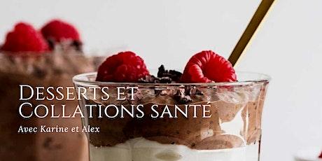 Desserts et collations santé billets