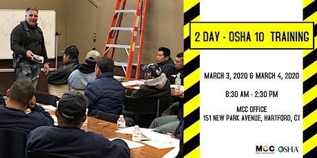 OSHA 10 Training  - March 2020 tickets
