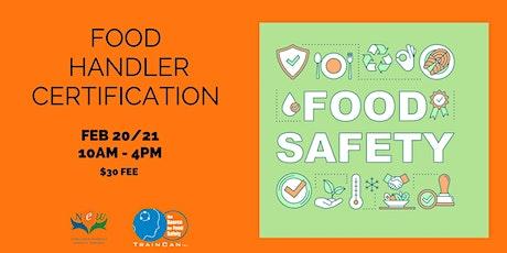 Pre-Registration Food Handler Certification - Toronto, ON February 20-21 tickets