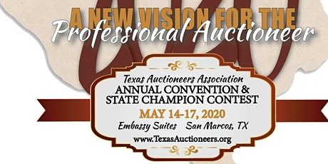 2020 Texas Auctioneers Association Annual Convention tickets