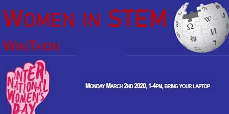 Women in STEM WikiThon tickets