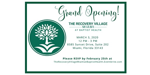 Grand Opening of The Recovery Village Miami at Baptist Health