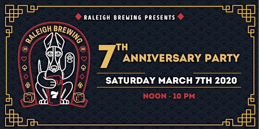 Raleigh Brewing 7th Anniversary Party