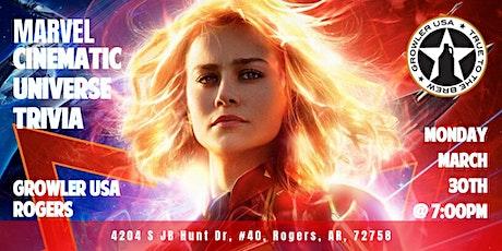 Marvel Cinematic Universe Trivia at Growler USA Rogers entradas