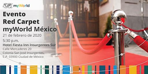 Evento Red Carpet de myWorld México