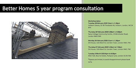 Better Homes 5 year programme consultation - Ort House Afternoon tickets