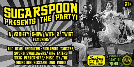 SugarSpoon presents The Party!  Sponsored by Absinthe Minded tickets