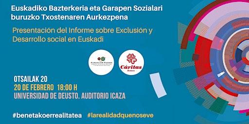 Presentación II Informe sobre exclusión y desarrollo social en Euskadi