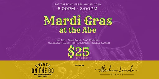 Mardi Gras at the Abe hosted by Trooper Thorn's and Abraham Lincoln Events