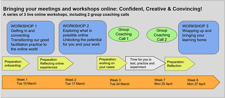 Bringing your Meetings & Workshops Online: Confident, Creative & Convincing image