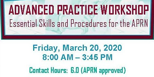 Advanced Practice Workshop - Essential Skills and Procedures for the APRN: Laceration Repair and Joint Injections