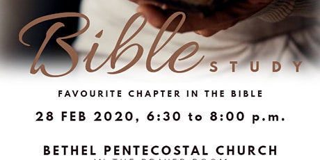 Favourite Chapter in the Bible (Study) tickets