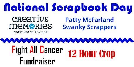National Scrapbooking Day - 12 Hour Crop - Benefits Cancer tickets