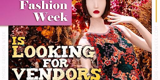 Vendor Registration for Baltimore Fashion Week 2020