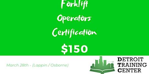 Forklift Operator Certification (03.28.20)