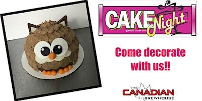CakeNight-Mahogany, Calgary-Owl Cake