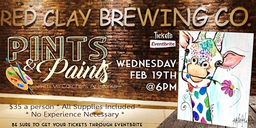 Red Clay Brewing Pints & Paints Giraffe