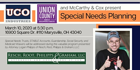 Special Needs Planning with McCarthy & Cox tickets