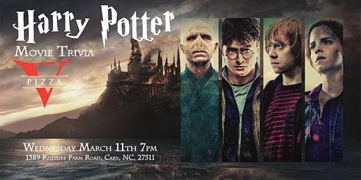 Harry Potter Movies Trivia at V Pizza Cary