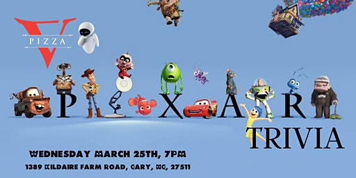 Disney Pixar Trivia at V Pizza Cary