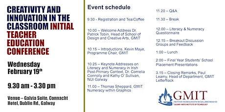 Creativity and Innovation in the Classroom - Initial Teacher Education tickets
