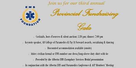 EMS Foundation 3rd Annual Provincial Fundraising Gala tickets