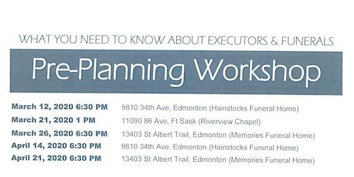 Pre Planning Info Workshop
