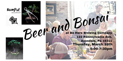 Beer and Bonsai at Be Here Brewing