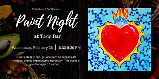 BOGO Paint Night at Taco Bar