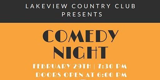 Comedy Night @ Lakeview