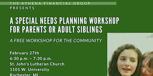 Special Needs Planning Workshop