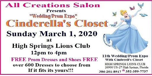 FREE PROM DRESSES @ 11th Wedding/Prom Expo with Cinderellas' Closet