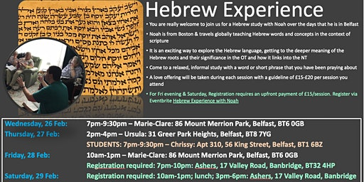 Hebrew Experience with Noah