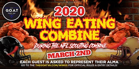 WING EATING Combine at the G.O.A.T! tickets
