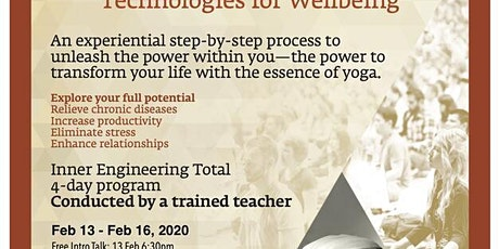Inner Engineering Technologies for Well-being tickets