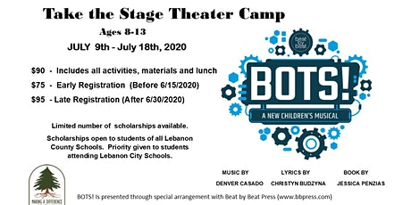 Take the Stage Children's Theater Camp tickets