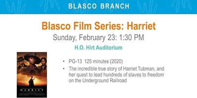 Blasco Film Series: Harriet (BLA)