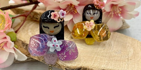 Kokeshi Doll Magnet with UV/LED Resin tickets