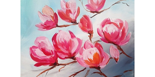 "2/29 - Corks and Canvas Event @ Pacific Place, Seattle ""Tulip Magnolia"""