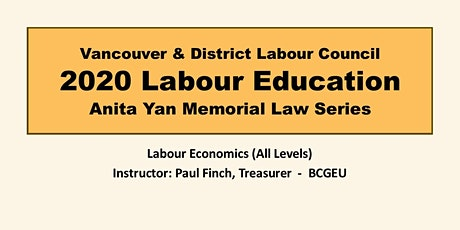 Labour Economics  (All Levels) tickets