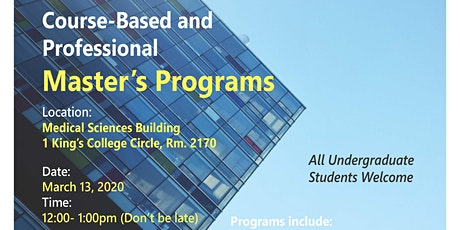 Course-Based and Professional Master's Programs tickets