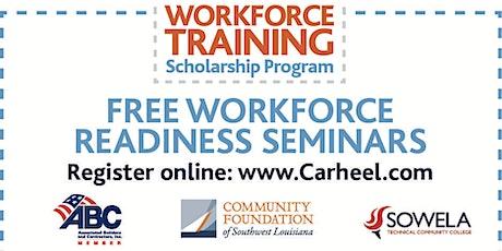 Workforce Readiness Seminar, presented by the Workforce Training Scholarship Program 6/3 tickets
