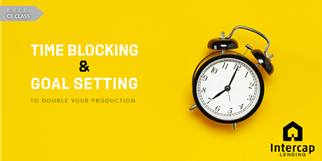 Time Blocking and Goal Setting - CE 2 Credits tickets