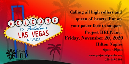 Vegas Style Casino to benefit Project HELP, Inc.