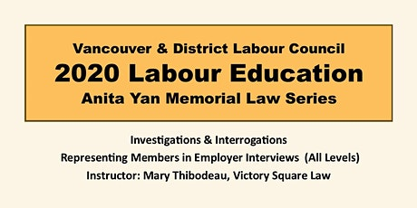 Investigations & Interrogations:Representing Members in Employer Interviews tickets